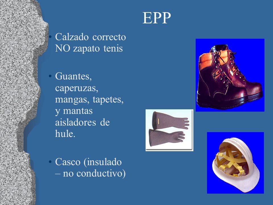 EPP Calzado correcto NO zapato tenis