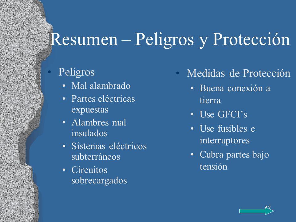 Resumen – Peligros y Protección