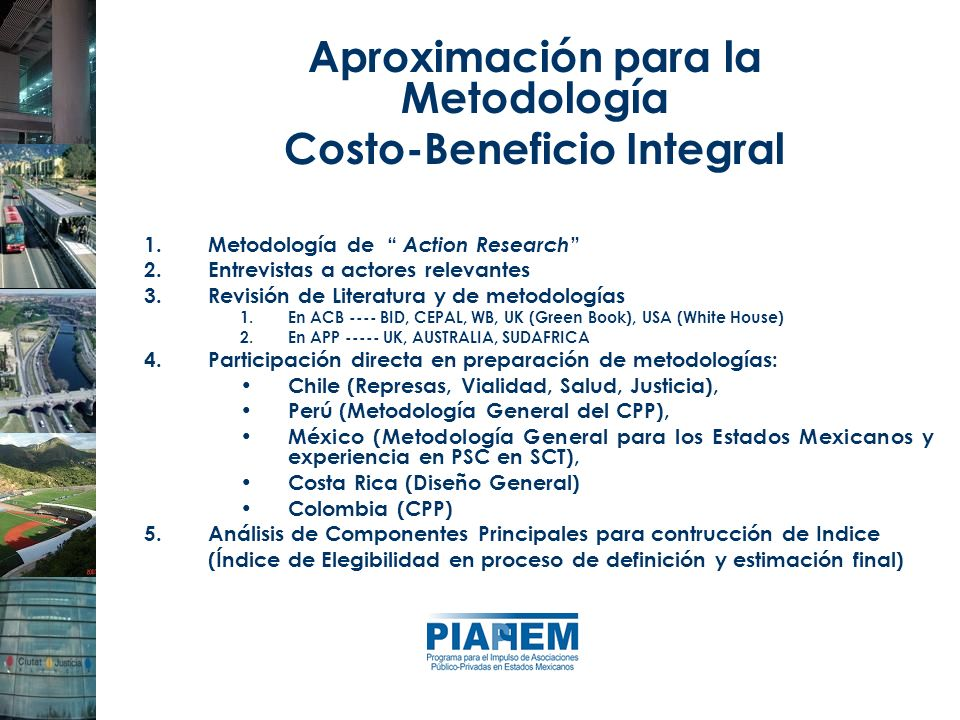 Aproximación para la Metodología Costo-Beneficio Integral