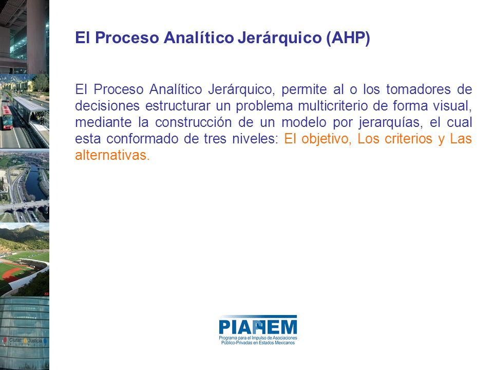 El Proceso Analítico Jerárquico (AHP)
