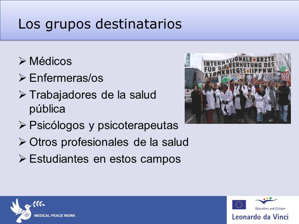 Los grupos destinatarios