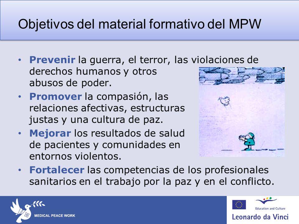 Objetivos del material formativo del MPW