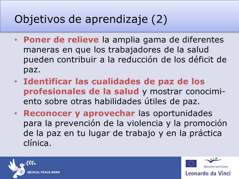 Objetivos de aprendizaje (2)