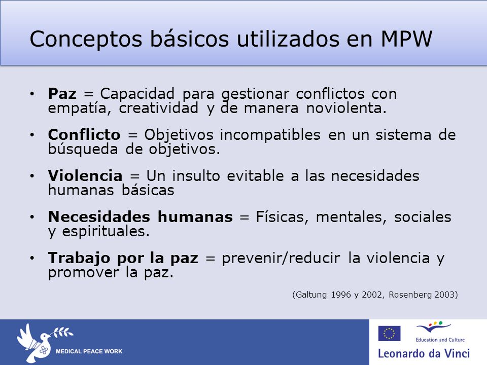 Conceptos básicos utilizados en MPW