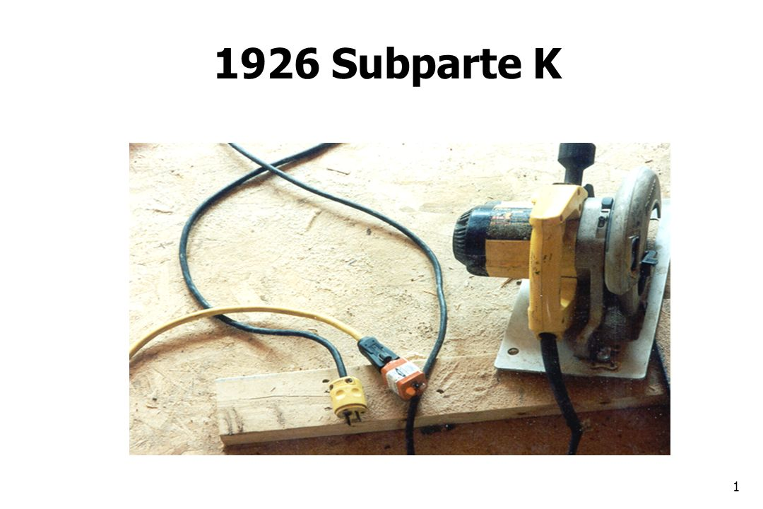1926 Subparte K