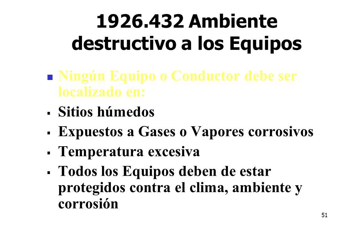 1926.432 Ambiente destructivo a los Equipos