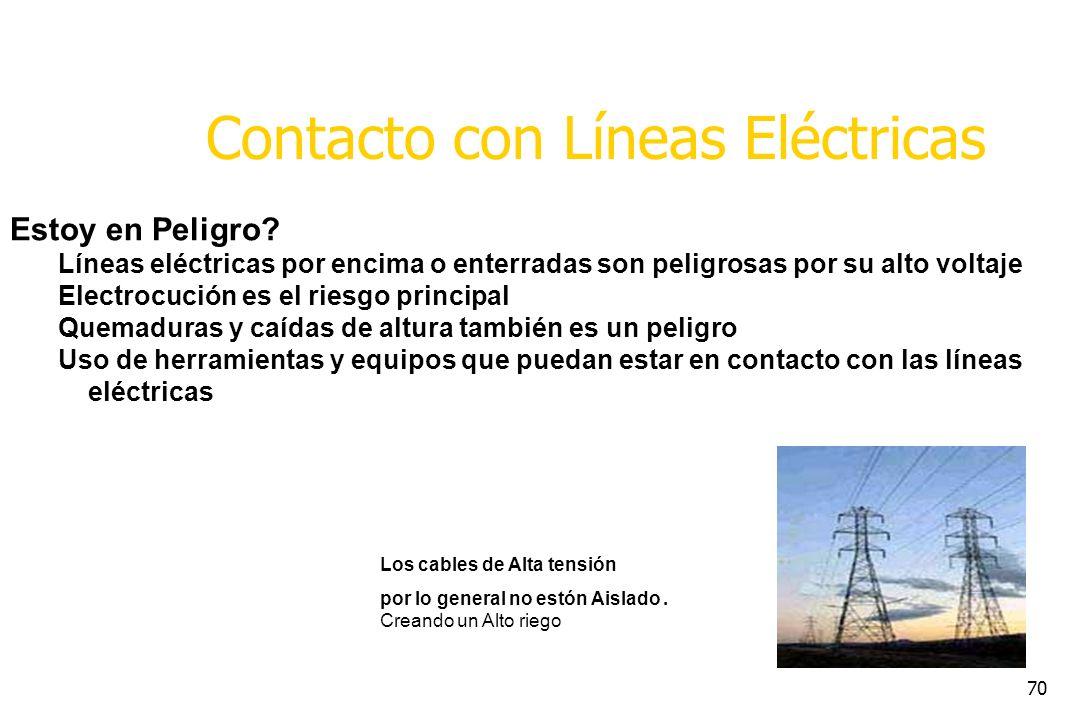 Contacto con Líneas Eléctricas