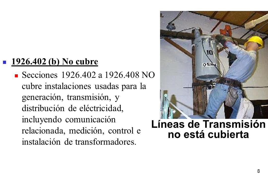 Líneas de Transmisión no está cubierta