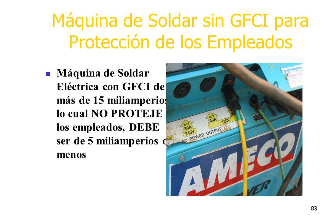 Máquina de Soldar sin GFCI para Protección de los Empleados