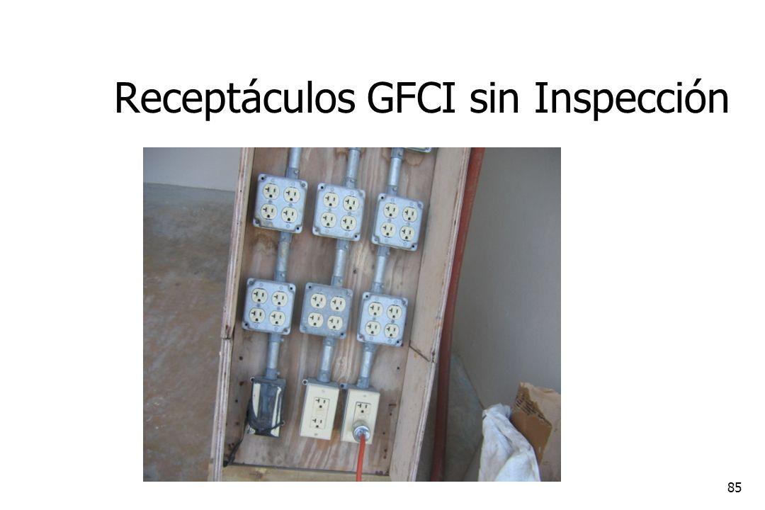 Receptáculos GFCI sin Inspección