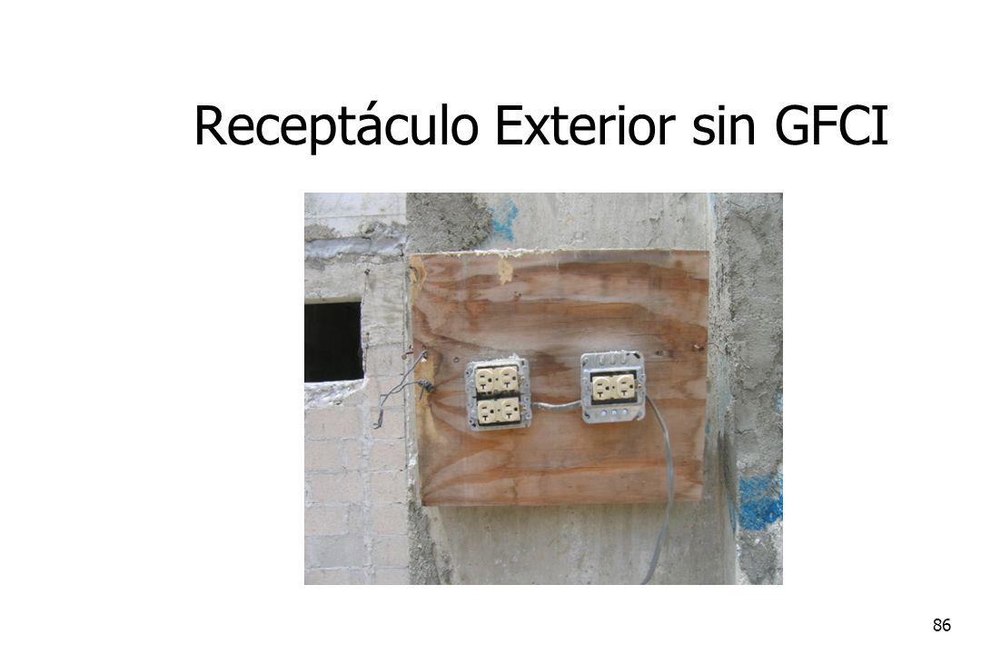 Receptáculo Exterior sin GFCI