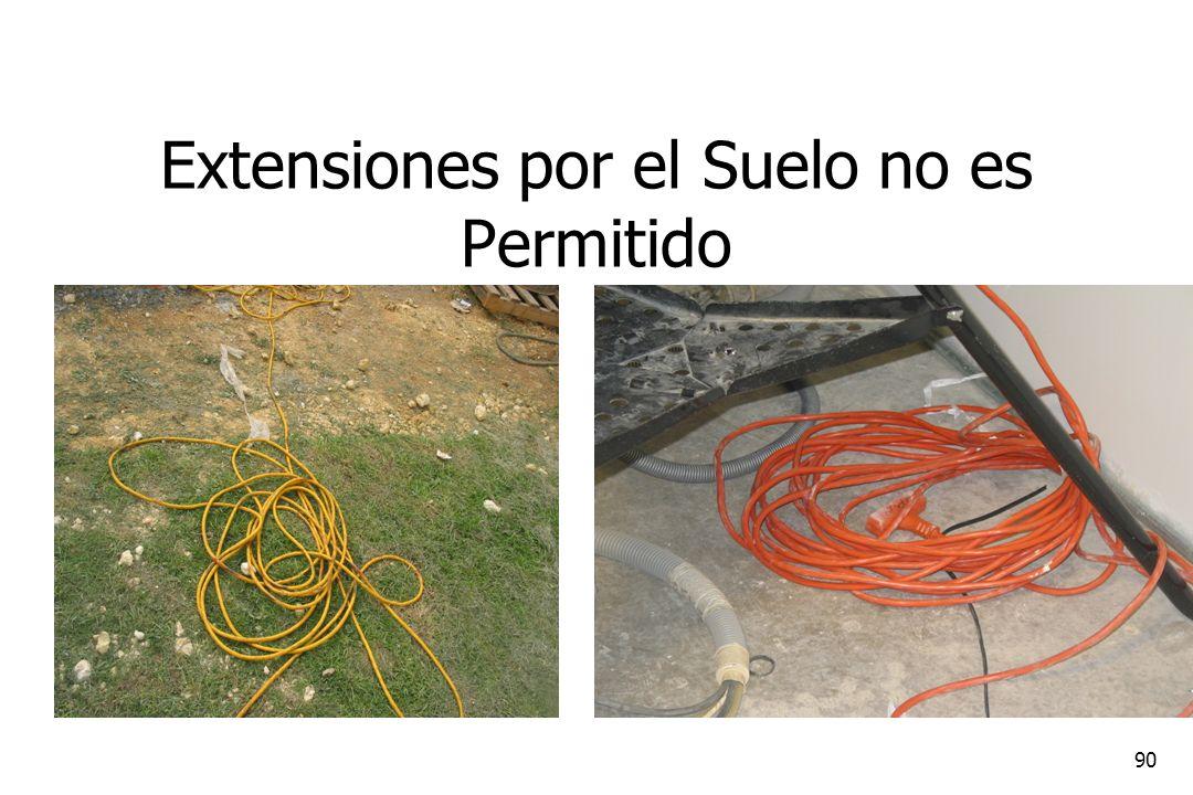 Extensiones por el Suelo no es Permitido