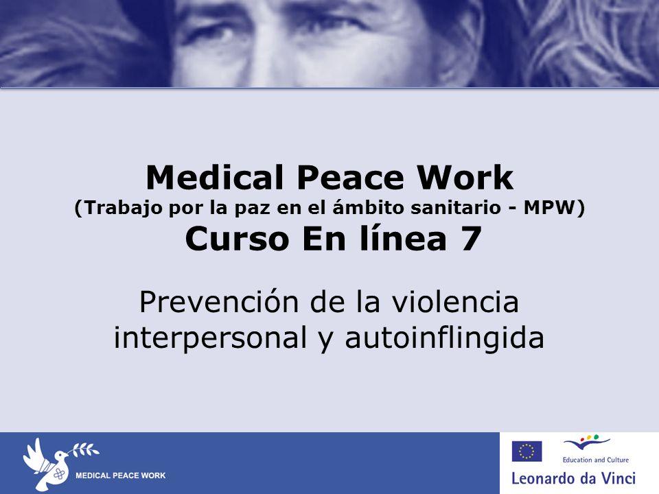Prevención de la violencia interpersonal y autoinflingida