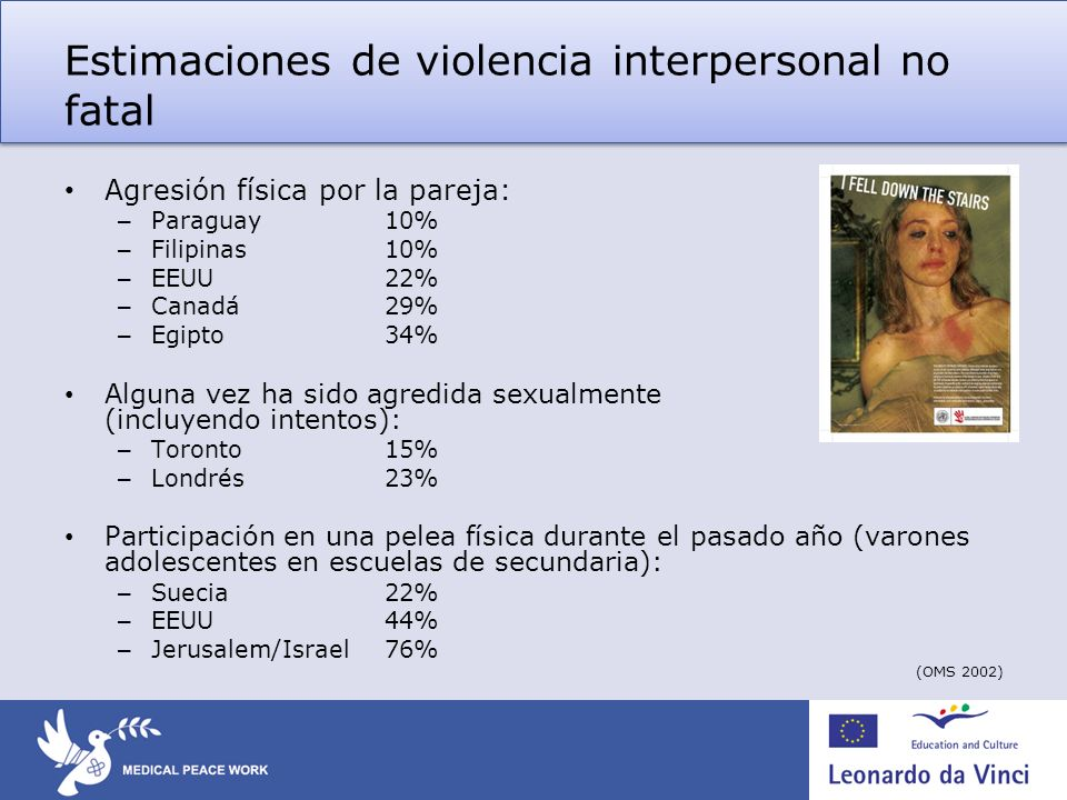 Estimaciones de violencia interpersonal no fatal