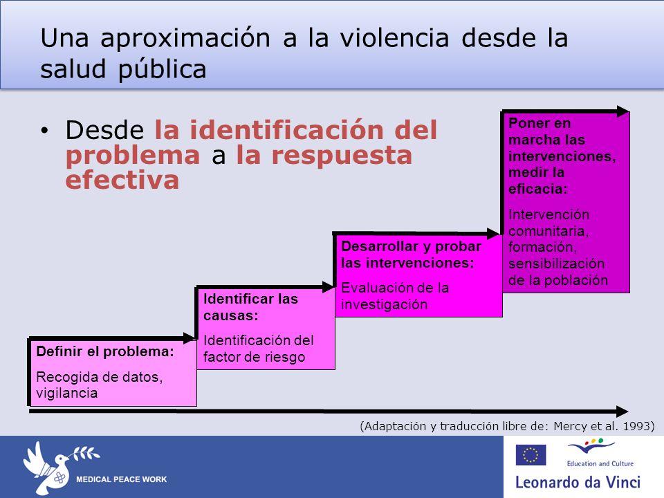 Una aproximación a la violencia desde la salud pública