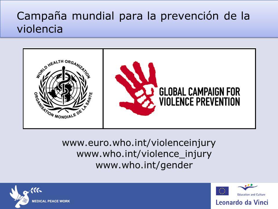 Campaña mundial para la prevención de la violencia