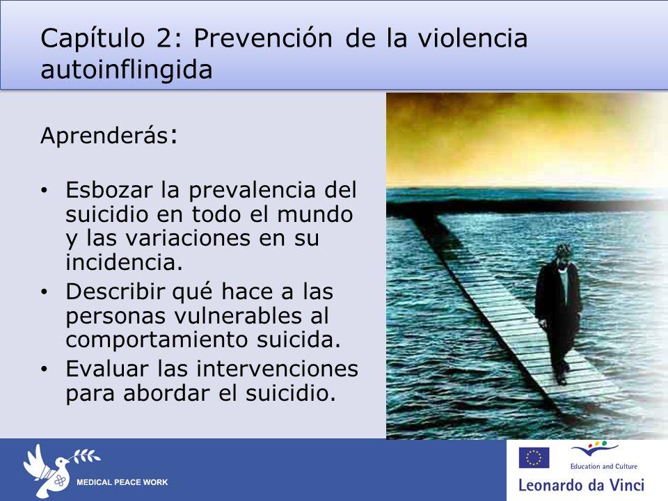 Capítulo 2: Prevención de la violencia autoinflingida
