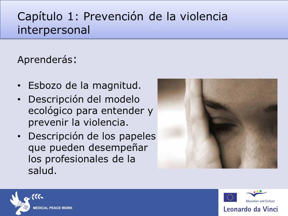 Capítulo 1: Prevención de la violencia interpersonal