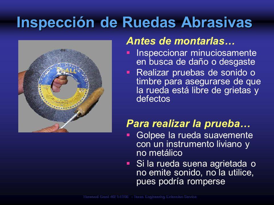 Inspección de Ruedas Abrasivas