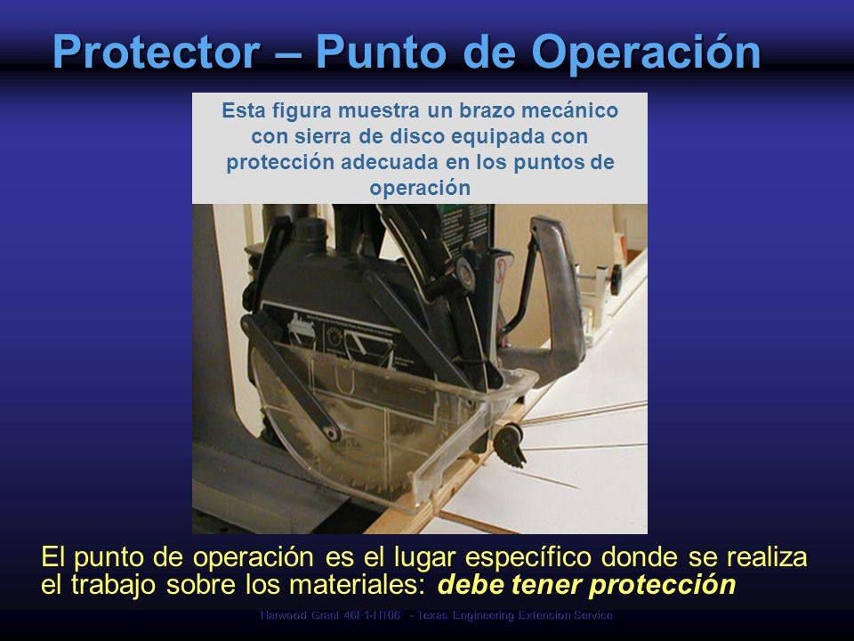 Protector – Punto de Operación