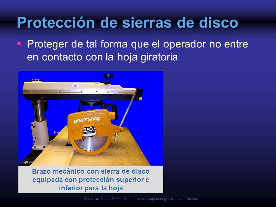 Protección de sierras de disco