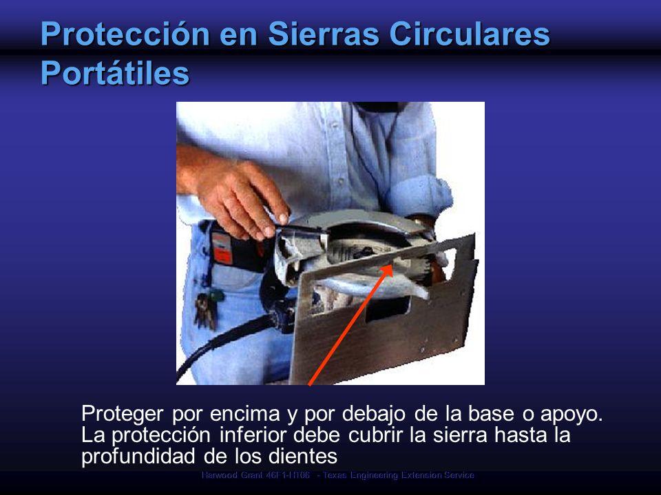 Protección en Sierras Circulares Portátiles
