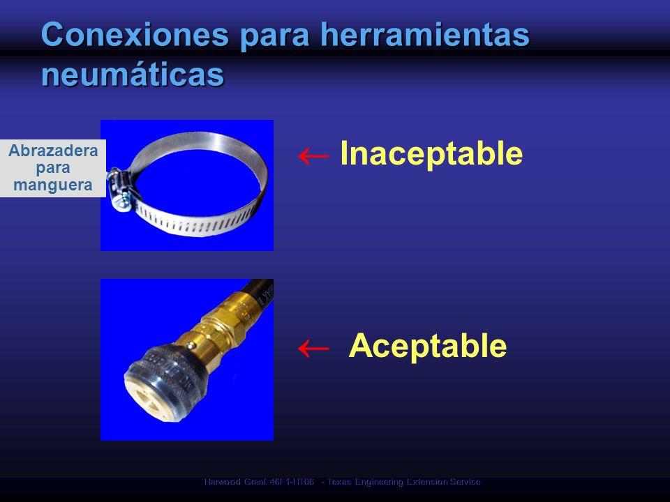 Conexiones para herramientas neumáticas