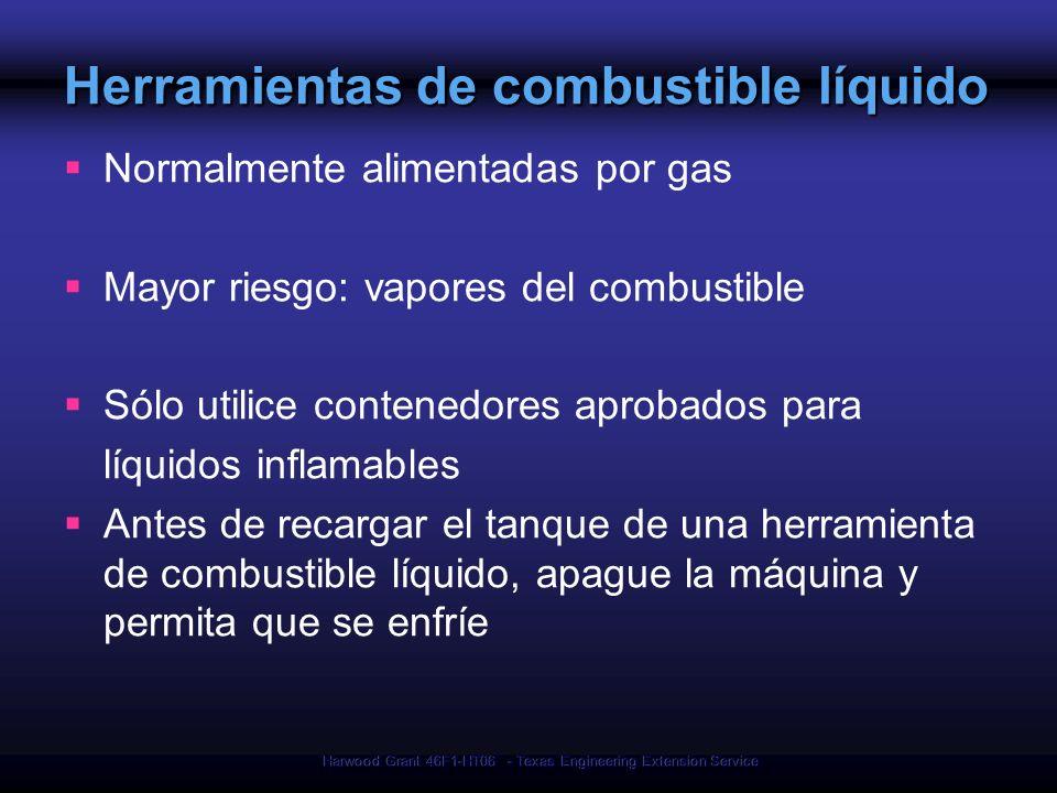 Herramientas de combustible líquido
