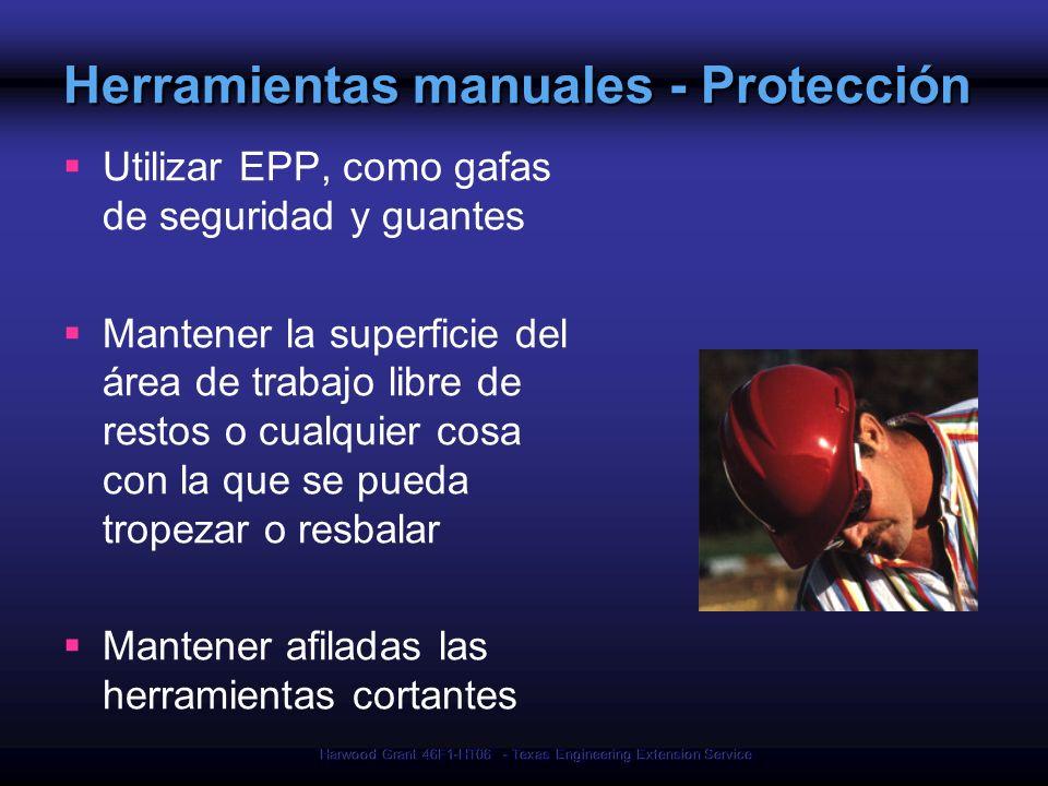 Herramientas manuales - Protección