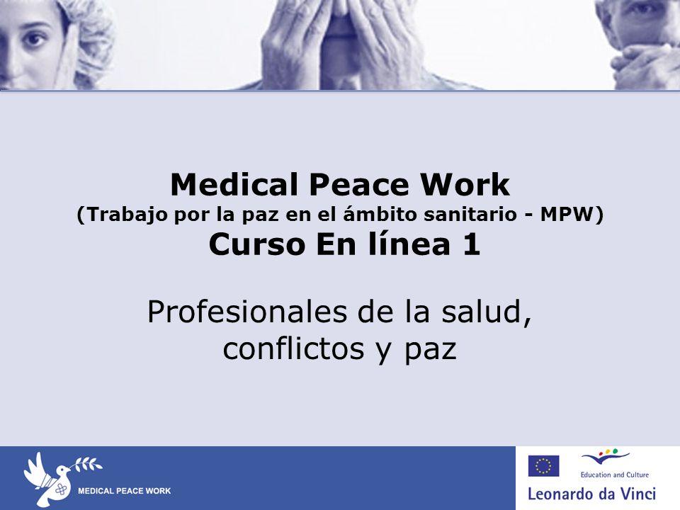 Profesionales de la salud, conflictos y paz