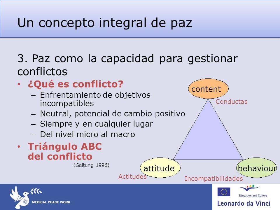 Un concepto integral de paz