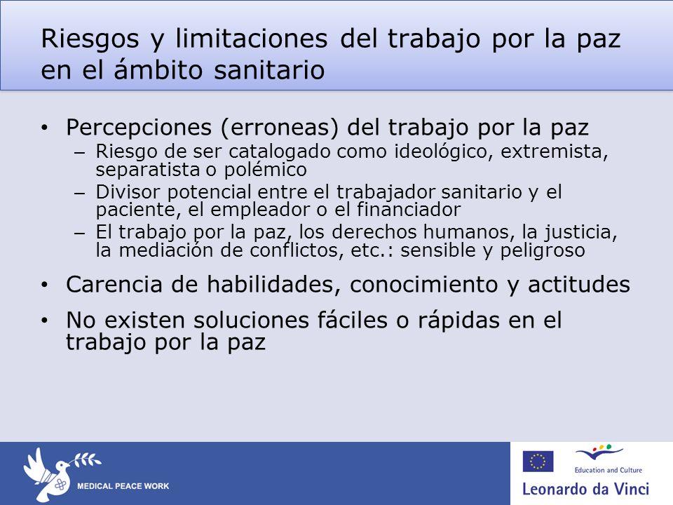 Riesgos y limitaciones del trabajo por la paz en el ámbito sanitario