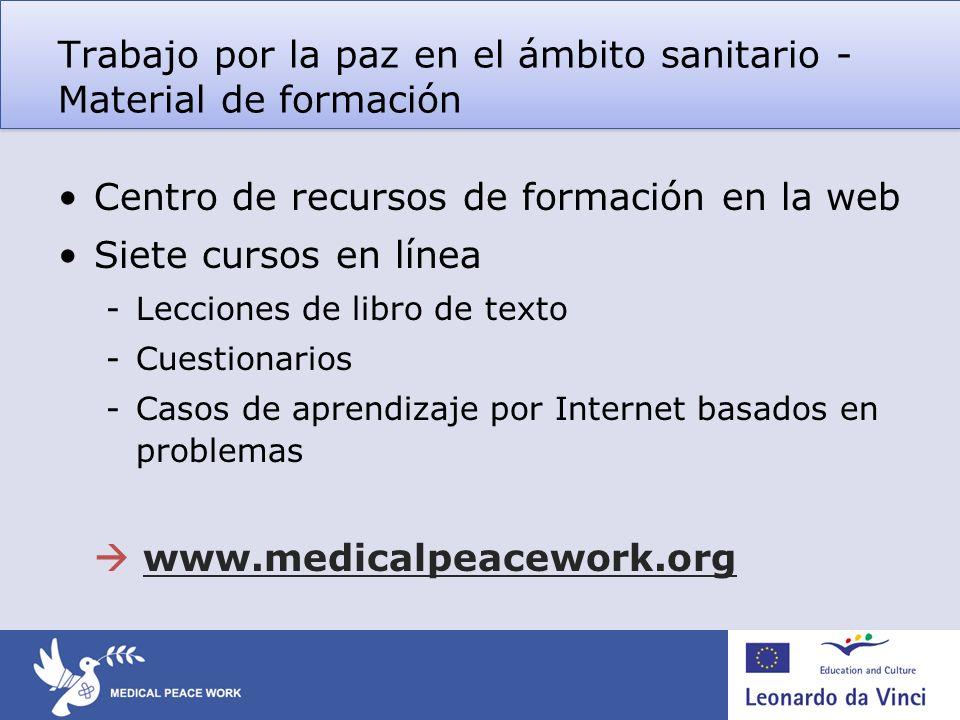 Trabajo por la paz en el ámbito sanitario -Material de formación