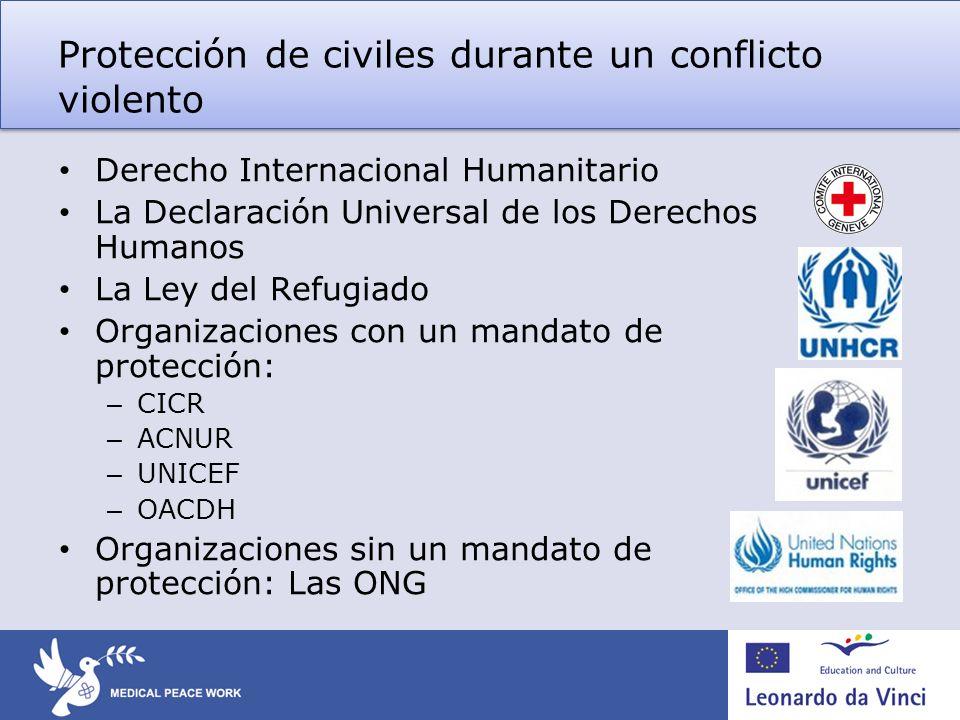 Protección de civiles durante un conflicto violento