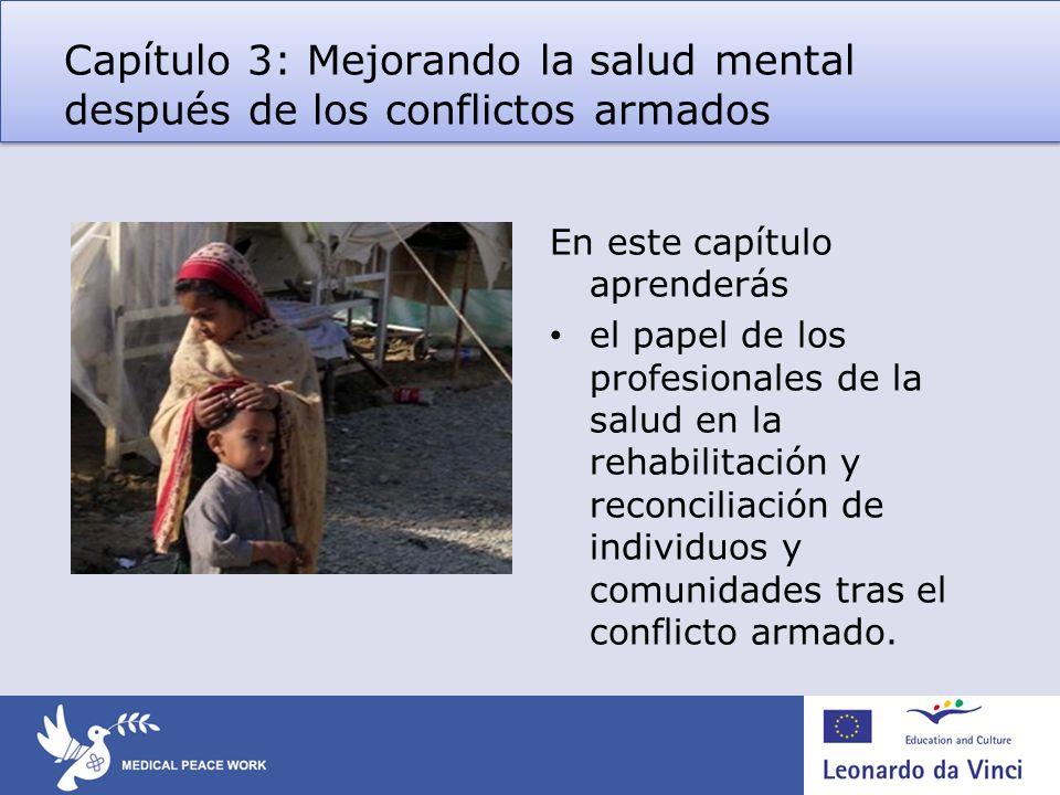 Capítulo 3: Mejorando la salud mental después de los conflictos armados