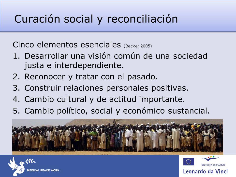Curación social y reconciliación
