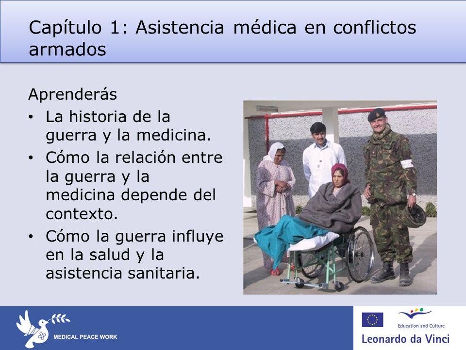 Capítulo 1: Asistencia médica en conflictos armados