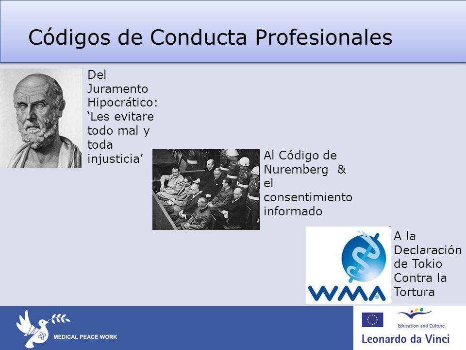 Códigos de Conducta Profesionales