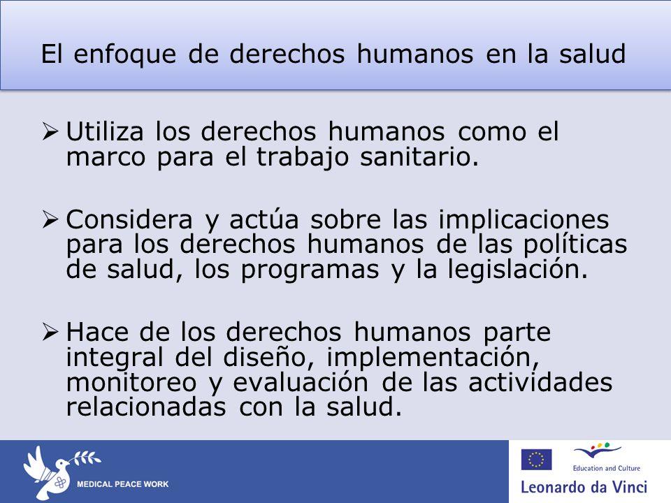El enfoque de derechos humanos en la salud