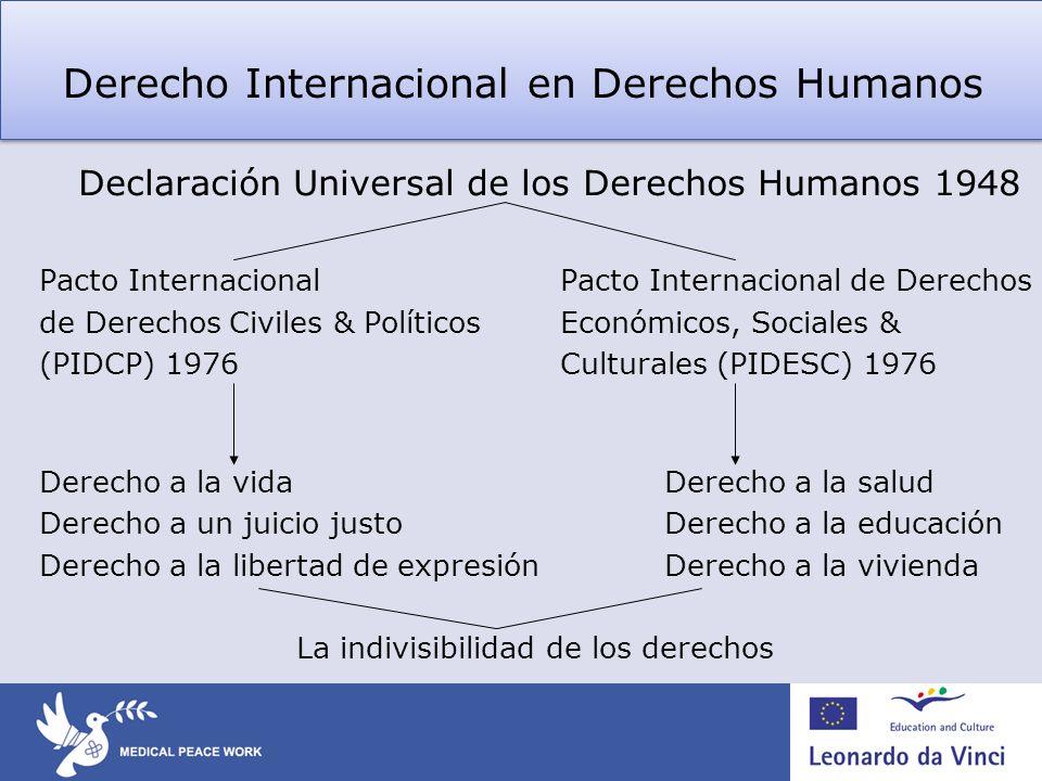 Derecho Internacional en Derechos Humanos