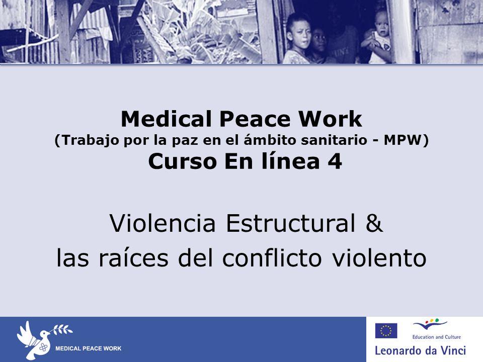 Violencia Estructural & las raíces del conflicto violento