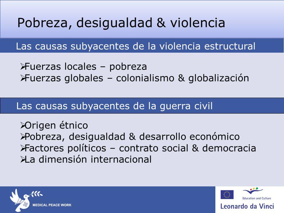 Pobreza, desigualdad & violencia