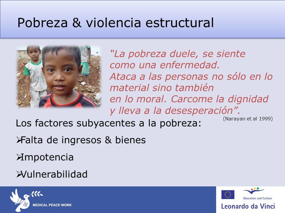 Pobreza & violencia estructural