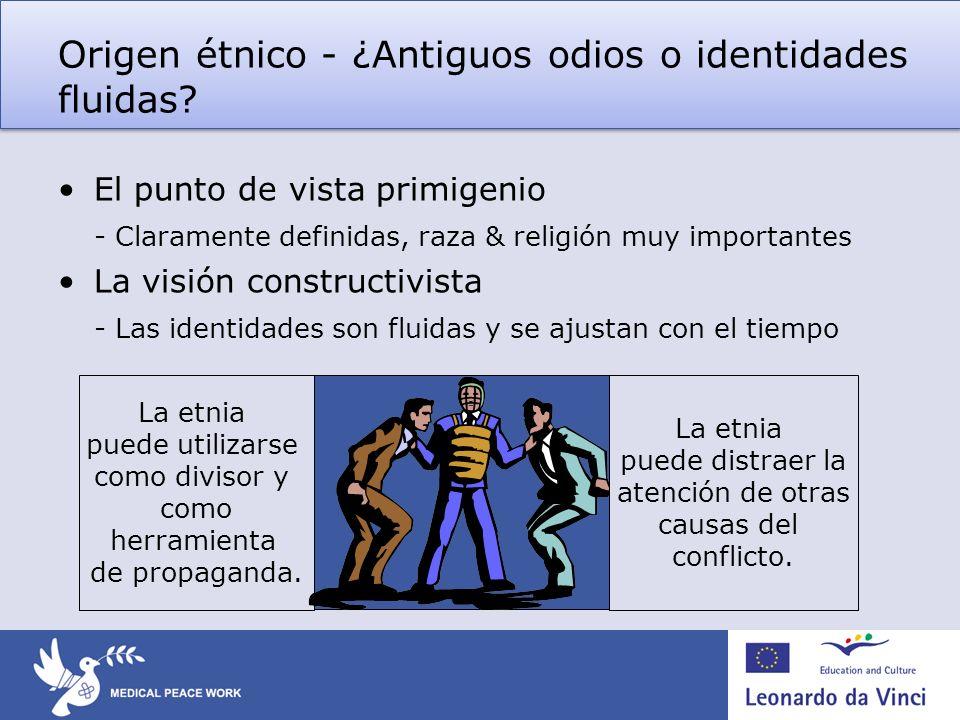 Origen étnico - ¿Antiguos odios o identidades fluidas