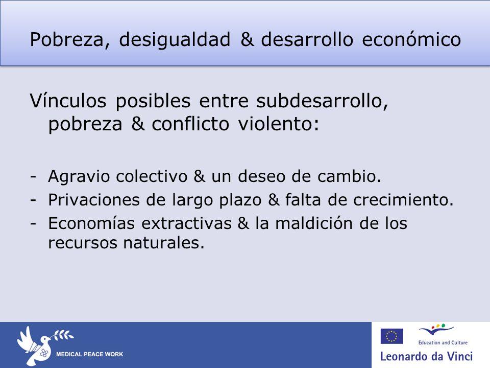 Pobreza, desigualdad & desarrollo económico
