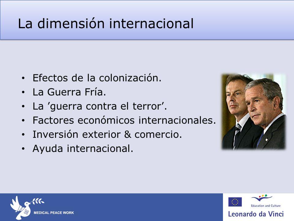La dimensión internacional
