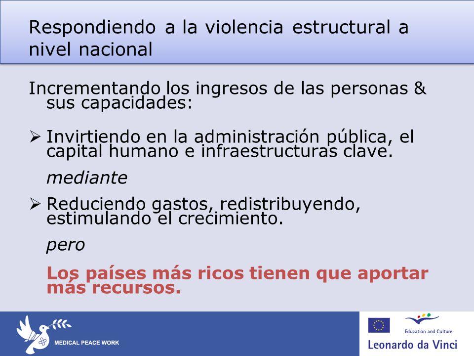 Respondiendo a la violencia estructural a nivel nacional