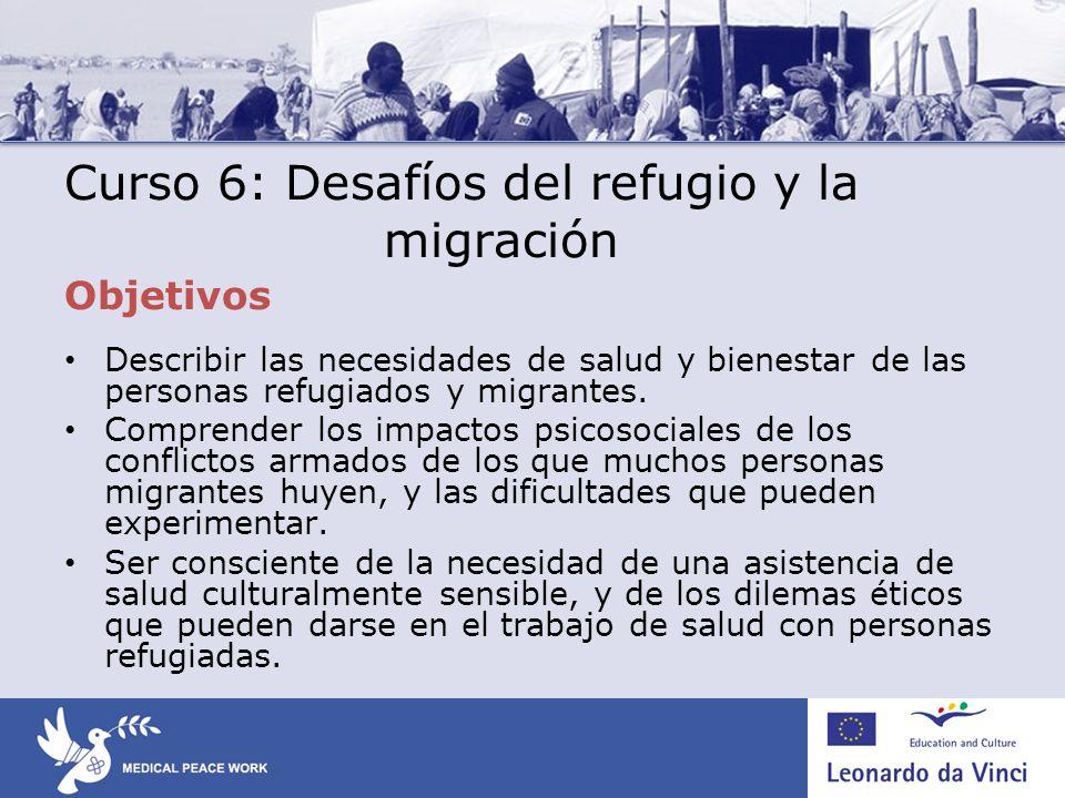 Curso 6: Desafíos del refugio y la migración