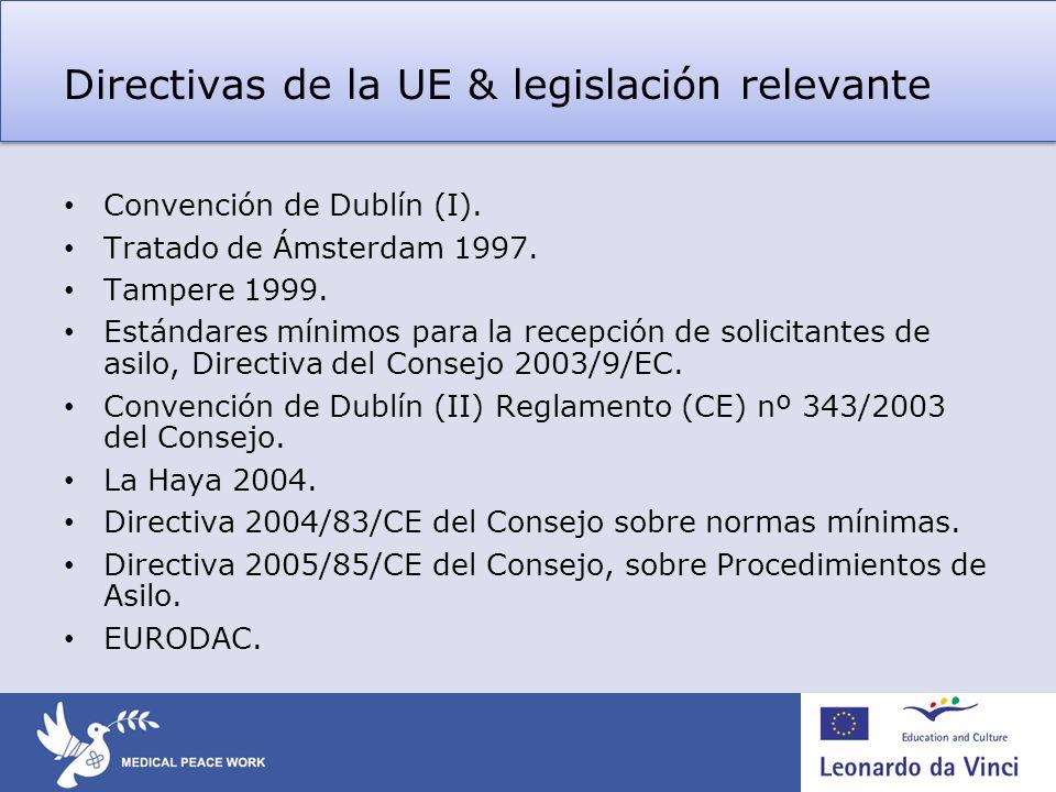 Directivas de la UE & legislación relevante