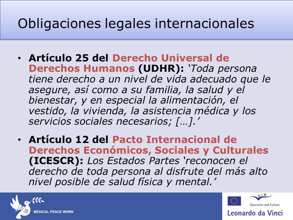 Obligaciones legales internacionales